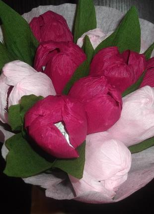 "Букет из конфет ""тюльпаны"""