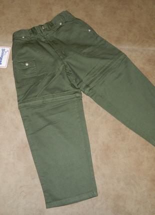 Штаны брюки шорты детские новые хаки на мальчика 5-6 лет buster b