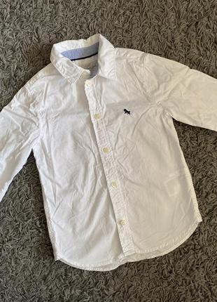 Белая рубашка h&m, рубаха с длинным рукавом нм