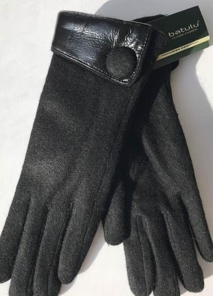 Перчатки женские кашемировые batulu лак 1 пуговица