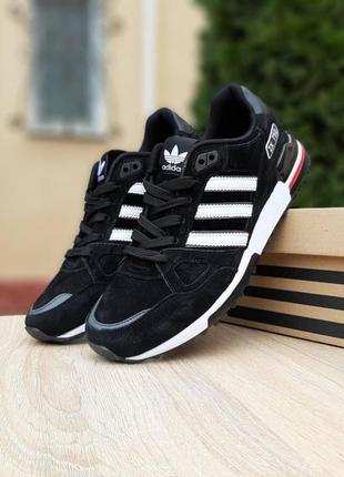 Мужские кроссовки adidas zx 750 черные. весенние, демисезонные