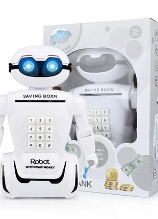 Детский робот сейф копилка настольная лампа Robot Piggy Bank