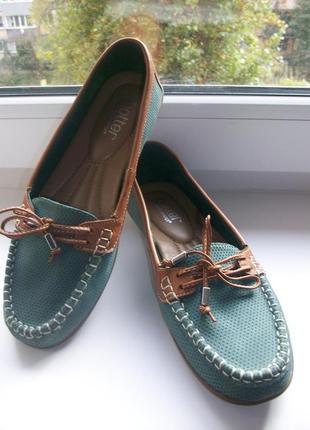 Туфли -мокасины женские натуральная кожа hotter р.38,5