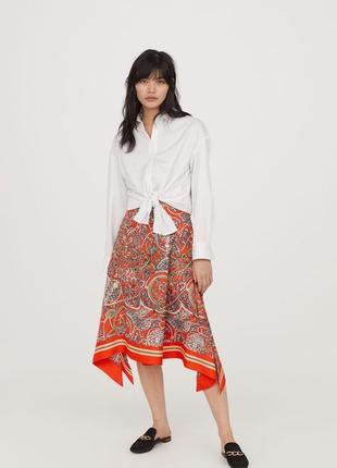 Красивая,асимметричная юбка,разрезы по бокам,этно,бохо стиль, h&m