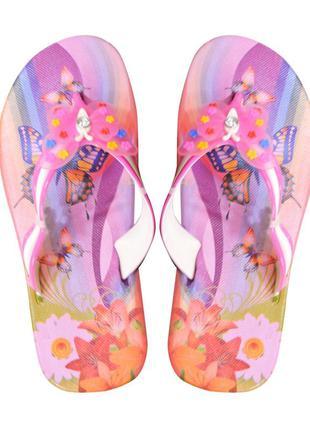 """Детские вьетнамки """"butterfly"""" розовые"""