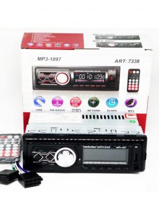 Автомагнитола MP3 1097 BT съёмная панель ISO cable пульт ду