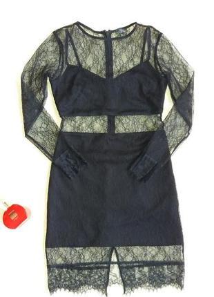 Платье стильное из гипюра