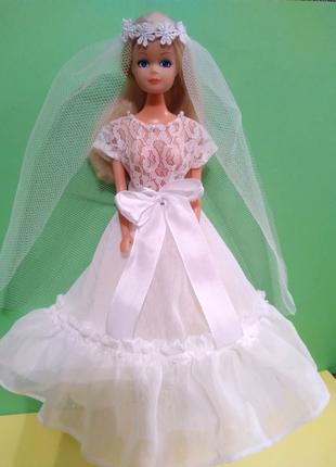 Одежда для куклы Барби-свадебный наряд.