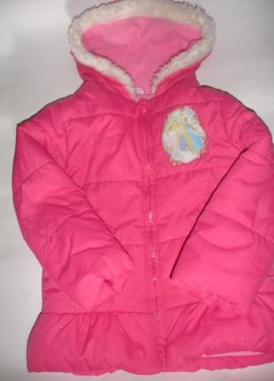 Фирменная куртка disney для принцессы 3-4 лет