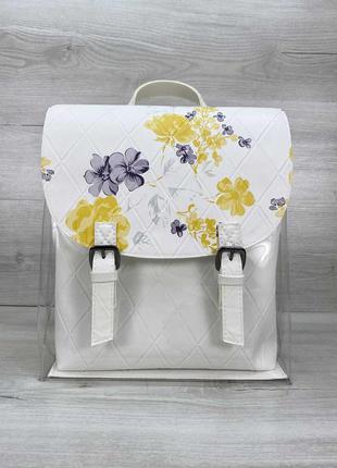 Модный силиконовый рюкзак с цветочным принтом