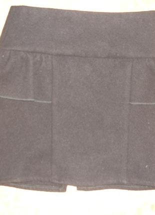 Фирменная крутая модная кашемировая теплейшая юбка девочке 8-9...