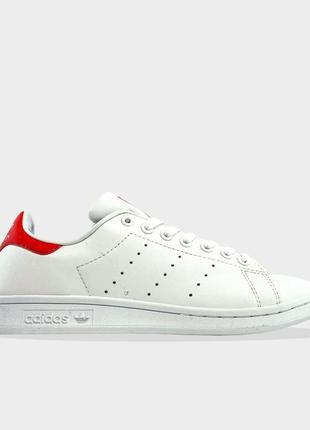 Adidas stan smith white red.