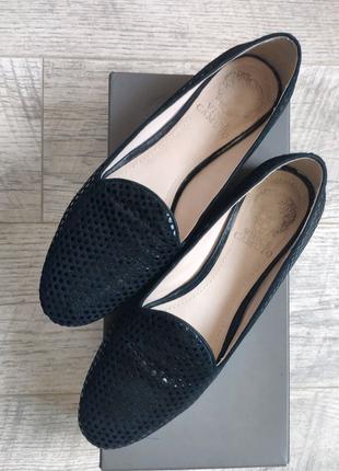Кожанные замшевые туфли лоферы vince camuto