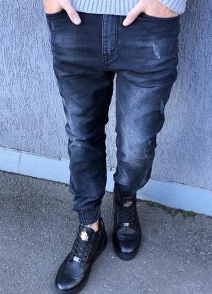Мужские джинсы джоггеры турция размер 32/34