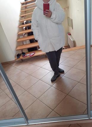 Классная мягкая теплая куртка полушубок janina большого размера