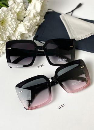 Солнцезащитные очки с блестками  + в комплекте мягкий чехол и ...