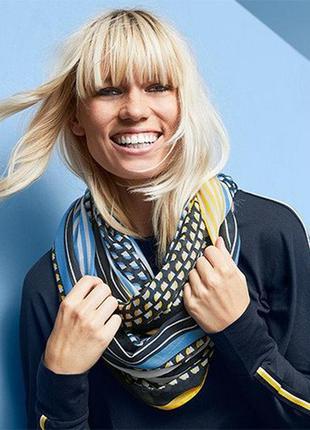 Яркий петлевой шарф/снуд от тсм tchibo размер универсальный