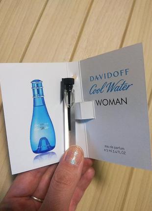 Духи парфюм аромат cool water woman от davidoff ☕ объём 5мл