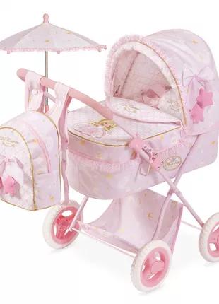 Коляска для куклы с сумкой и зонтиком 85028