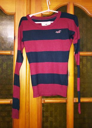 Пуловер Hollister, джемпер, кофта в полоску,XS