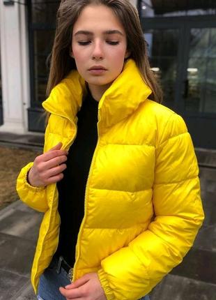 Женская куртка W1 весна/осень желтая