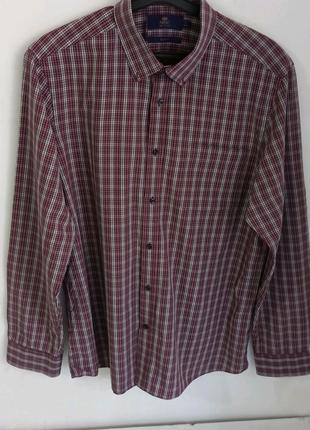 Мужская рубашка в клетку фирмы Next slim fit