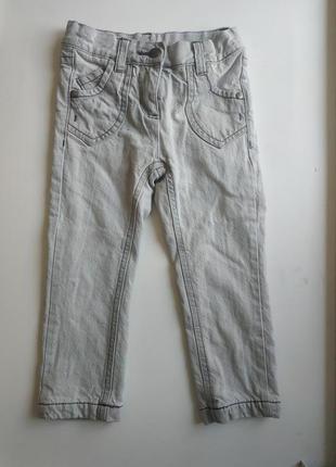Утепленные джинсы на девочку 92 см