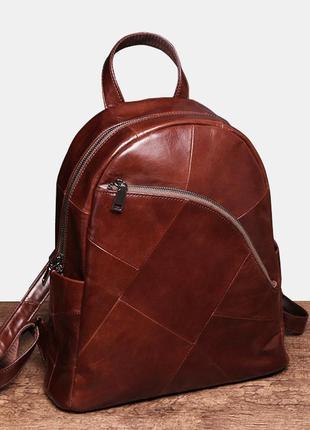 Рюкзак кожаный женский. рюкзак стильный из натуральной кожи (к...