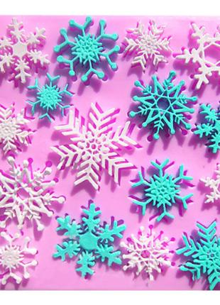Молд снежинки для мастики и шоколада кондитерский