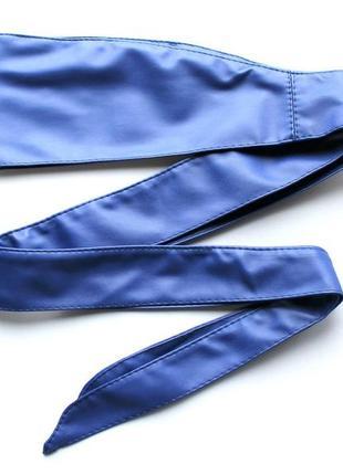 Женский пояс кушак синий кобальт