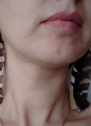 Красивые серьги из перьев