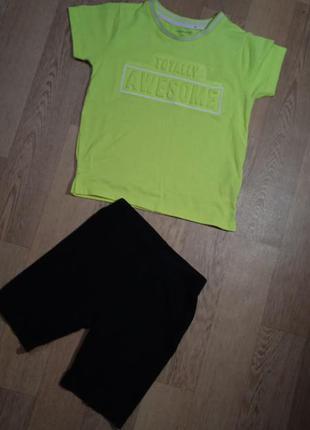 Костюм для мальчика футболка и шорты на 3-4 года