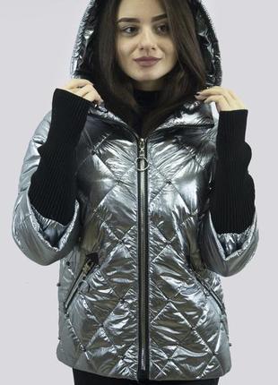 Куртка с трикотажными рукавами