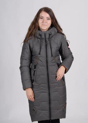 Демисезонная длинная женская куртка