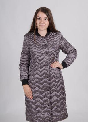 Длинная демисезонная куртка женская