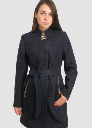 Осеннее пальто женское шерстяное