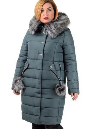 Женская длинная куртка зимняя на меху