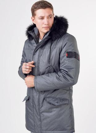Мужская куртка парка с мехом 2019