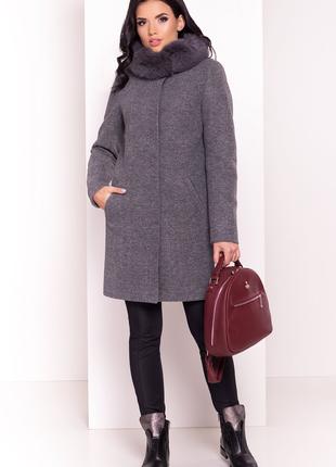 Женское зимнее пальто с мехом 2019