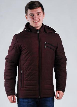 Весенняя мужская куртка бордовая