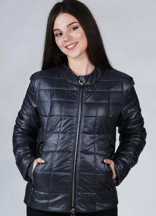 Весення женская куртка короткая стеганая