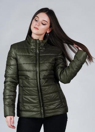 Демисезонная женская куртка хаки