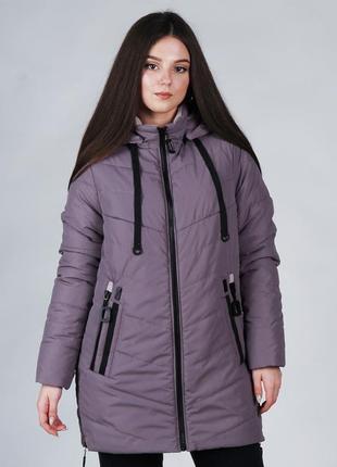Женская длинная весення куртка