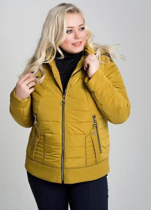 Женская куртка большого размера