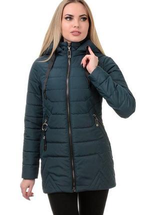 Женская весення куртка длинная