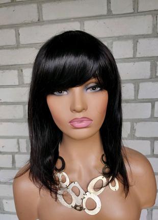 Парик удлинённое каре 45см из 100% натуральных волос