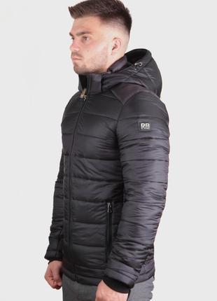 Черная премиум куртка демисезон утепленная {46-54}