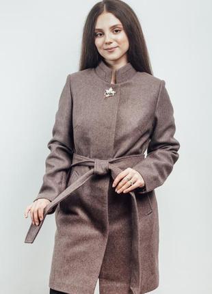Длинное прямое пальто (42-50)
