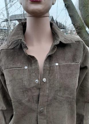 Вельветовая рубашка мужская (унисекс) р. 38 gerard darel