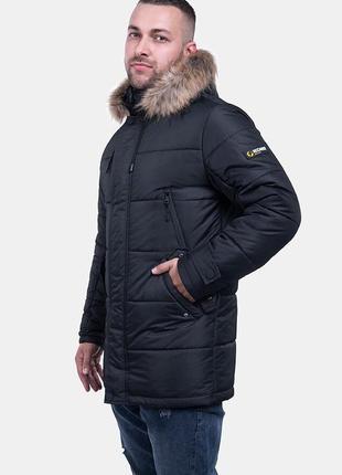 Зимняя мужская куртка парка с мехом (46-56)